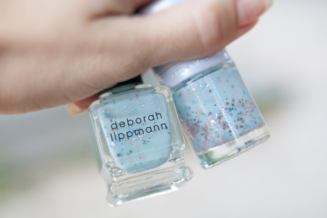 Tonymoly Milkyway dupe Deborah Lippmann Glitter in the Air