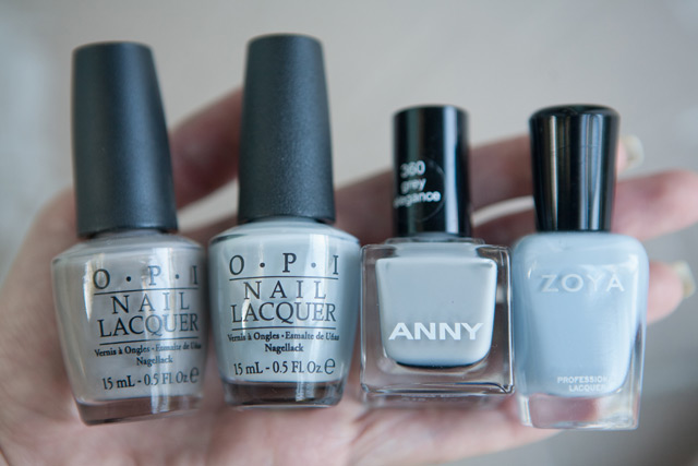 OPI French Quarter For Your Thoughts My Pointe Exactly ANNY Grey Elegance Zoya Kristen