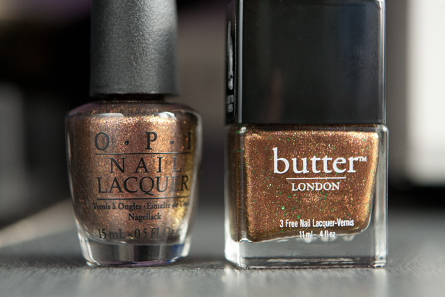 Butter London Scuppered OPI Warm & Fozzy