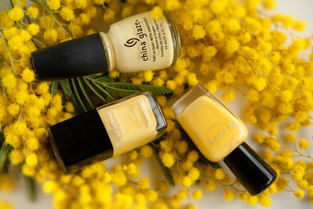 China Glaze Lemon Fizz Chanel Mimosa Zoya Pippa