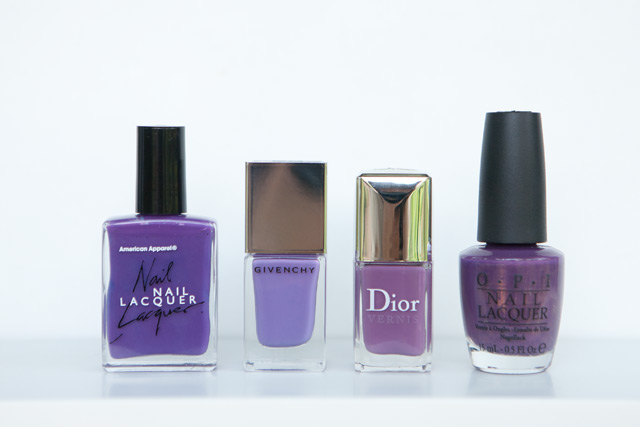 American Apparel African Violet Givenchy Croisiere Purple Dior Forget Me Not OPI Dutch 'Ya Just Love OPI?