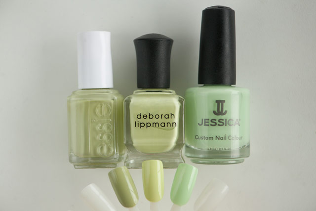 Essie Navigate Her Deborah Lippman Spring Buds Jessica Viva La Lime Lights