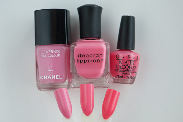 Chanel May Deborah Lippmann Break 4 Love OPI Suzi's Hungary Again