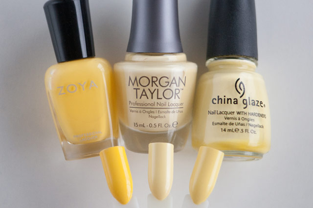 Zoya Pippa Morgan Taylor Ahead of the Game China Glaze Lemon Fizz