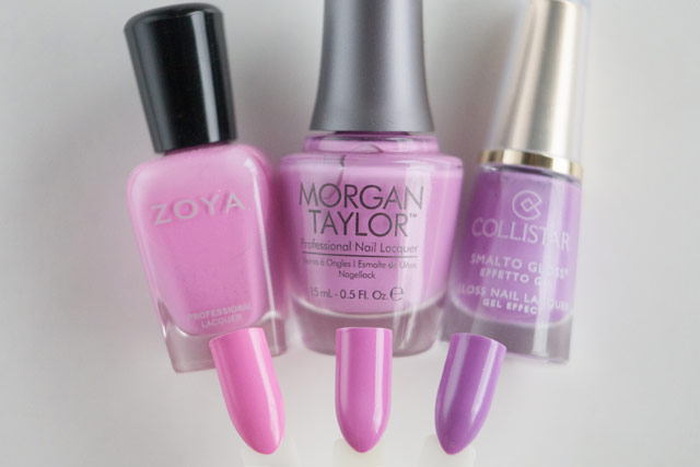 Zoya Shelby Morgan Taylor New Kicks on the Block Collistar Floral Lavender
