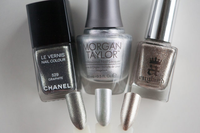 Chanel Graphite Morgan Taylor Oh Snap, It's Silver! A-England Excalibur