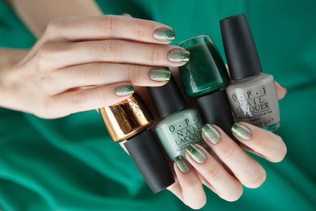 OPI Don`t Speak French Quarter For Your Thoughts Thanks A Windmillion Christmas Gone Plaid