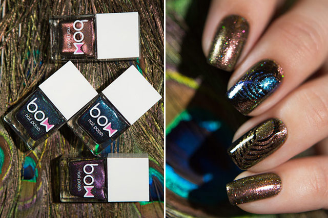 Bow Nail Polish | Out of Space collection | Skies Fall | Swamp | My Heroine | Burning Bridges