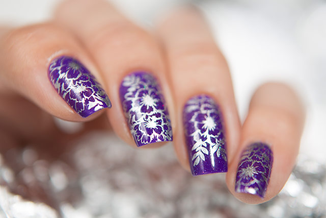 Bow Nail Polish Conversion collection   Thermo Top Coat Violet   Born Pretty BP-L024