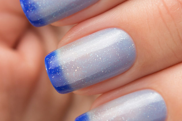 Bow Nail Polish Thermo Top Coat Blue | Conversion collection