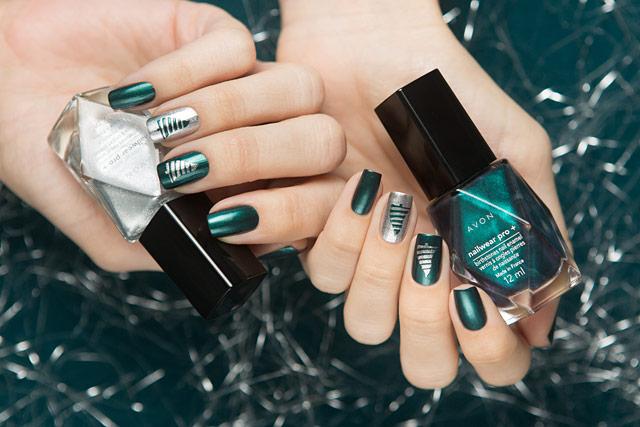 AVON Emerald Diamond   NailWear Pro+   PRIMA Nails Новогоднее чудо