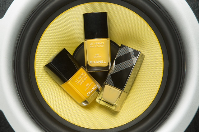 Chanel Giallo Napoli | Chanel Mimosa | Burberry Pale Yellow