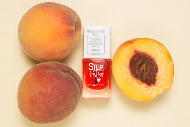 Step Nails and Cuticle Oil Peach