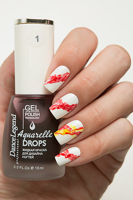 01 Red | Dance Legend Gel Polish Aquarelle Drops collection