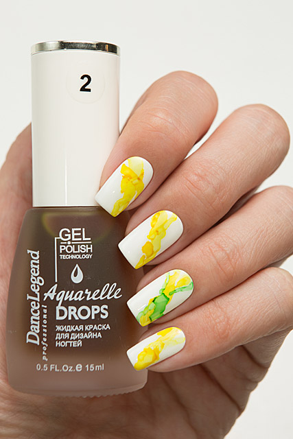 02 Yellow | Dance Legend Gel Polish Aquarelle Drops collection