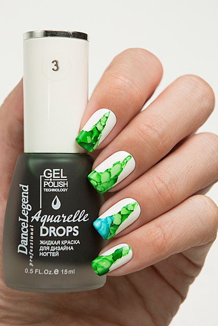 03 Green | Dance Legend Gel Polish Aquarelle Drops collection