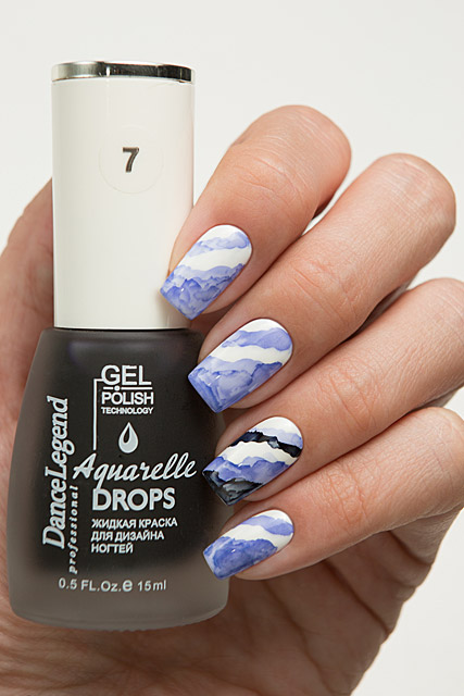 07 Deep Blue | Dance Legend Gel Polish Aquarelle Drops collection