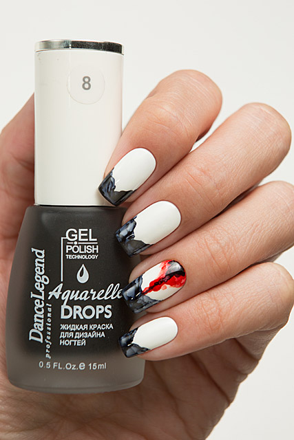 08 Black | Dance Legend Gel Polish Aquarelle Drops collection