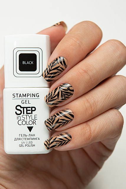 Step Stamping Gel Black