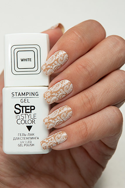 Step Stamping Gel White