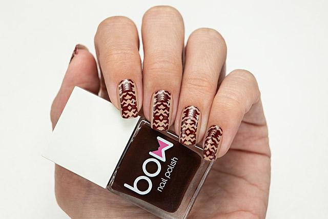 Stamping Red/Black | Bow Nail Polish