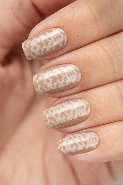 Stamping White/Gray | Bow Nail Polish